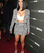 Cardi B At The FashionNovaXCardiB Launch